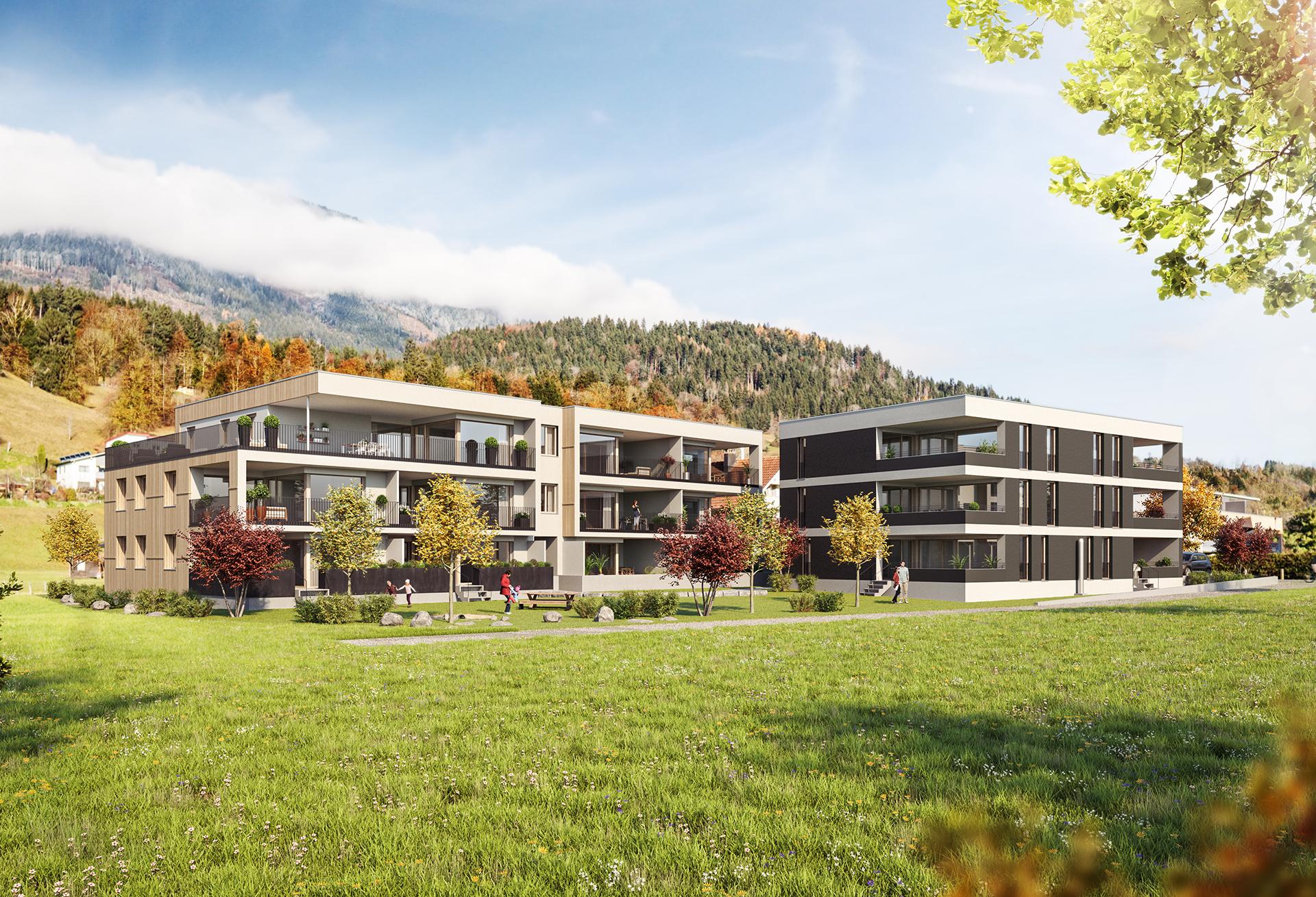 Dieter Vetter  Architekten in Vorarlberg Wohnanlage Alte Landstraße in Bludesch