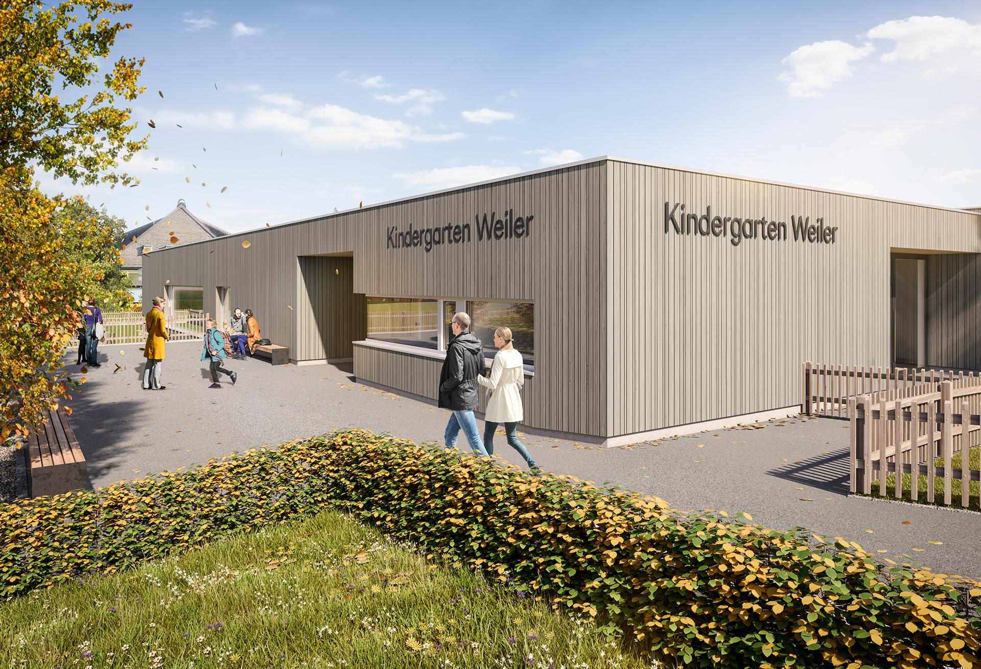 Dieter Vetter  Architekten in Vorarlberg Kindergarten Weiler in Lustenau